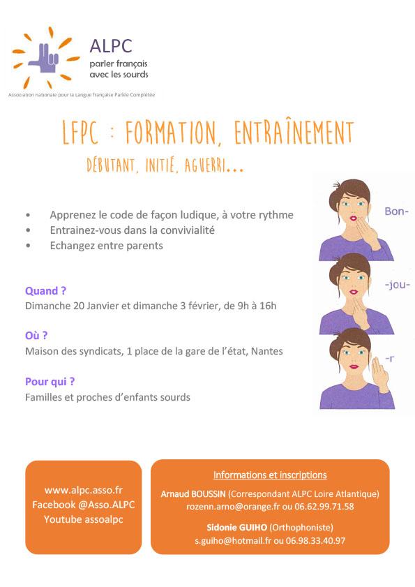 Formation LfPC - Nantes - janvier février 2019