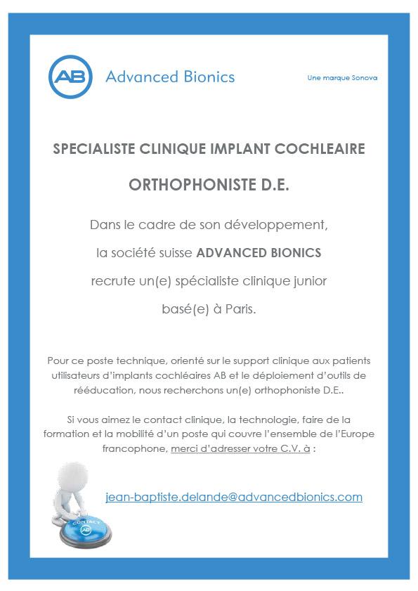 Offre emploi Ortho 2018 - Advanced Bionics