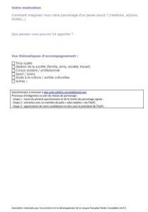 parrainage - questionnaire 2