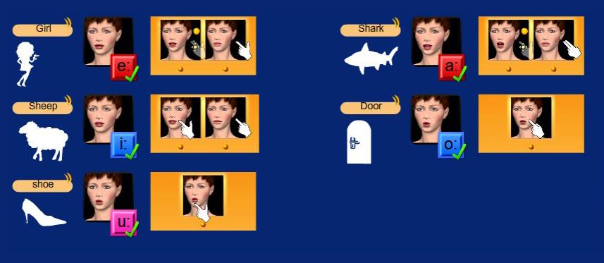 Cued Speech : tableau des voyelles longues